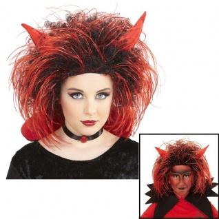 2tlg BLACK DEVIL SET Halloween Kostüm Teufel Satan Hörner Fledermaus