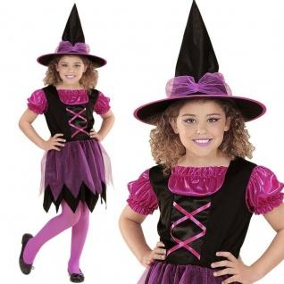 HEXE Sabrina pink Mädchen Kinder Hexen Kostüm von 104 Kleinkinder bis 164 # 1524