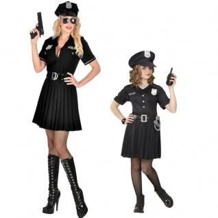 Polizistin Polizei Cop Partner Kostüm für Damen und Kinder -Police Kleid Uniform