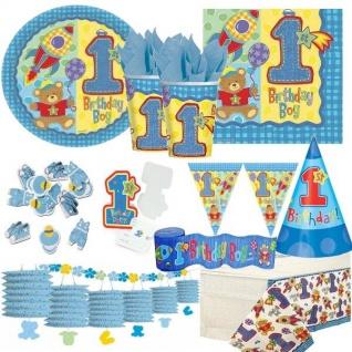 1. Geburtstag Junge Boy TOP AUSWAHL Party Deko Erster Geburtstag blau hellblau