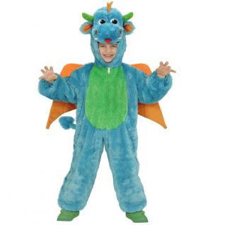 Plüsch Kostüm Gr. 98cm DRACHE Kinder Karneval Fasching Verkleidung Kleinkind