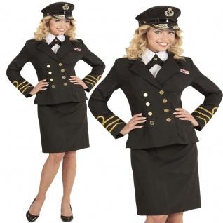 Navy Captain Marine Offizier Damen Kostüm - Karneval Fasching Verkleidung