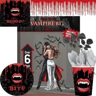 HALLOWEEN Vampir Party DEKO - Fledermaus Grabstein Becher Servietten AUSWAHL