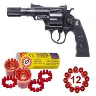 Agent BUDDY Pistole mit SCHALLDÄMPFER + 240 Schuss Kinder Spielzeug Revolver