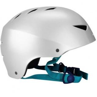 SKATERHELM Kinderhelm Inliner Helm Silber Gr. L 58 - 62 cm #75CG/ZIL