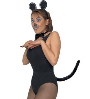 3 Tlg. Maus Set Zubehör süß sexy Mini Mouse - Ohren, Fliege, Schwanz - Kostüm