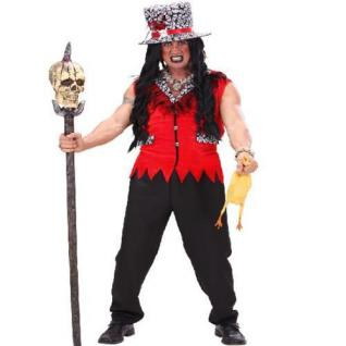 VOODOO PRIESTER Gr. 50/52 M HERREN KOSTÜM Karneval Halloween Tod Magie