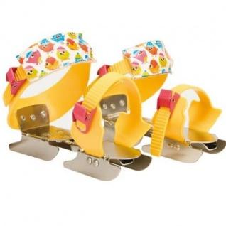 Nijdam Junior Verstellbare Gleitschuhe 24-34 Schlittschuhe Gelb/Rosa #0123GER