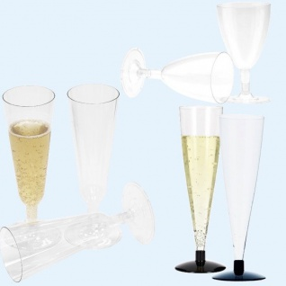 Einweg Weingläser Sektgläser Sektflöten Sektglas Weinglas Kunststoff Plastik
