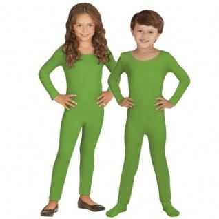Einteiler Kinder Body Overall Jumpsuit lang Sport grün Langarm Kostüm 116-152