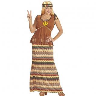 HIPPIE WOMEN 60's 70's Damen Kostüm 46/48 (XL) Flower Rock mit Weste #6534