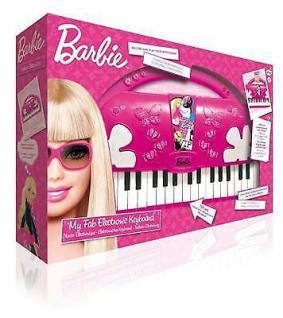 Barbie Keyboard Kinder Piano Spielzeug Klavier Playback- und Aufnahmefunktion