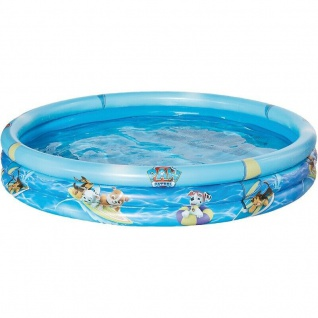 3 Ring Pool 122 cm Paw Patrol Polizei Kinder Planschbecken Swimmingpool #6321