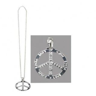 Peace Hippie Friedenssymbol Kette Halskette Flower Power Schmuck