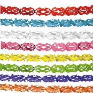 TOP 600 cm Papier GIRLANDE UNIFARBEN Party Deko weiß gelb rot blau grün orange