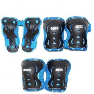 7 Tlg. Schützer-Set Kinder Protektoren Set blau - Skater Inliner Schlittschuhe
