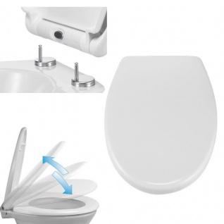 WC Sitz Duroplast Absenk-Automatik Schnellverschluss Toiletten Deckel Klo Brille