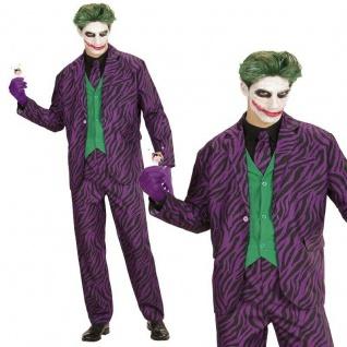 EVIL JOKER Herren Kostüm Gr. M 50 Jacke Weste Hose Krawatte Halloween #9312