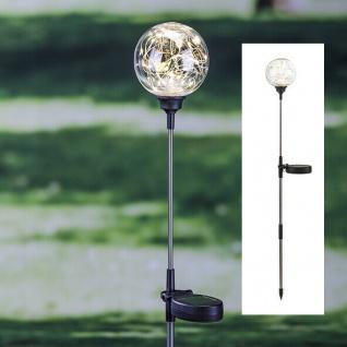 Solar Gartenstecker mit 30 LED Wegbeleuchtung Kugel Solarkugel Garten-Deko
