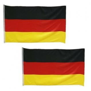 2 X Deutschland Fahnen SET 90x150 Fahne Hissflagge Flagge XXL