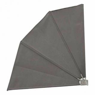 Balkonfächer Sichtschutz / Sonnenschutz / Windschutz grau 120x120 cm Terasse