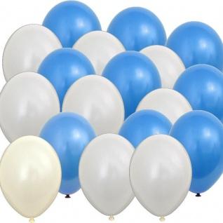 60 x Luftballons weiß & blau Oktoberfest Bayern Wies'n Party Deko Feier x