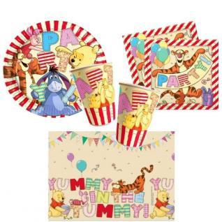 Winnie the Pooh II Disney Buchstaben- Teller Becher Servietten Tischdecke 37 tlg