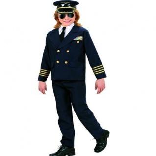 PILOT Jungen Kostüm Gr.164 14-16 Jahre Jacke, Hose, Kragen mit Krawatte, Hut