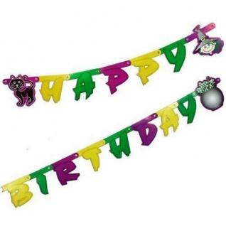 """Buchstabenkette """" Happy Birthday"""" - HEXEN Party Kinder Geburtstag Kleine Hexe"""