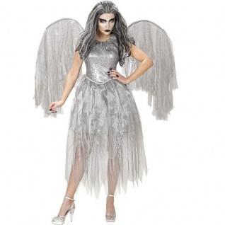 DUNKLER ENGEL Damen Kostüm Gr. 34/36 (S) KLEID MIT FLÜGEL Halloween #6201