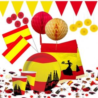 Spanien Deko Party gelb rot Fussball Dekoration AUSWAHL Teller, Becher Deko