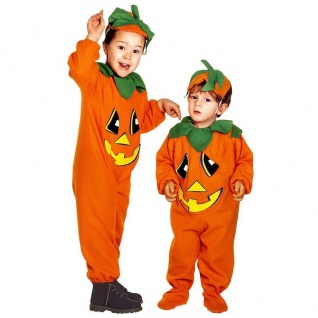 KÜRBIS Kinder Kleinkinder Kostüm für Mädchen Jungen Pumpkin- Halloween Karneval