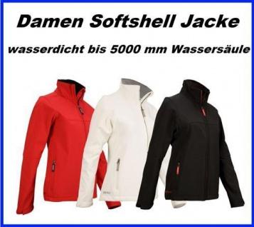 DAMEN SOFTSHELL Jacke wasserdicht bis 5000 mm Wassersäule, atmungsaktiv