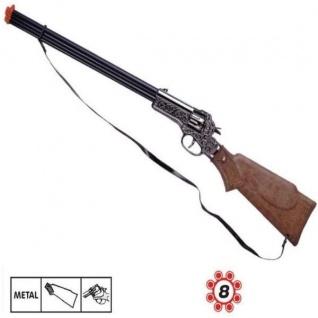 RAPID FIRE 8 Western Metall Gewehr 8 Schuß Ring Munition Kinder Spielzeug Cowboy
