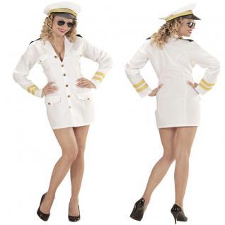 Sexy Marine Offizierin NAVY CAPTAIN Matrosin Damen Kostüm Karneval Seemann