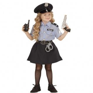 POLIZEI MÄDCHEN Police Girl Kinder Kostüm - Größe 116 - Polizistin Cop #4005