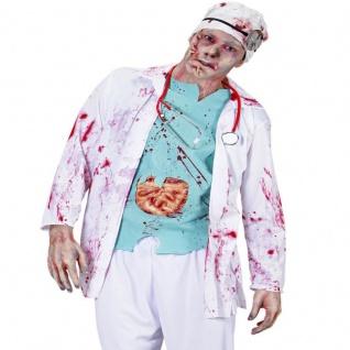 ZOMBIE DOKTOR Gr. XL 54-58 Herren Kostüm Arzt Kittel Chirurg Halloween 9486