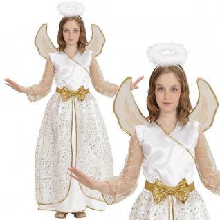 Engel Kostüm für Kinder Gr. 128 Mädchen Engelskostüm Kleid Weihnachten #877