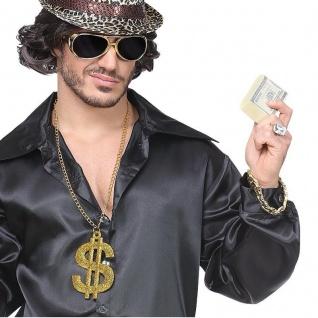 Proll Lude Macho Proleth Hip Hop Rapper Set 3-tlg. Brille + Dollarkette +Armband