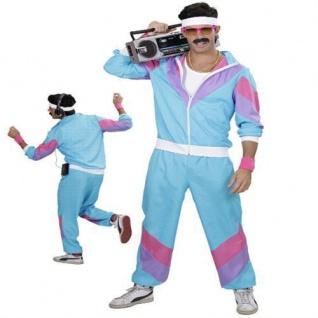 80er 90er Jahre JOGGINGANZUG Kostüm Mottoparty S, M, L, XL, XXL Karneval