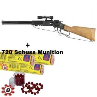 ARIZONA Western Gewehr mit 720 Schuss Munition Kinder Spielzeug Cowboy Indianer