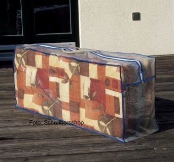 Schutzhaube Schutzhülle Tragetasche Auflagenschutzhülle Transparent 125x50x32 cm
