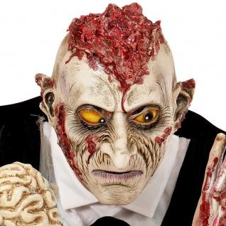 MASKE VERRÜCKTER WAHNSINNIGER ZOMBIE Dead Halloween 3/4 Maske Horror 0401