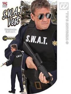 S. W. A. T. Weste - Erwachsene Faschings Kostüm S2856D Polizei Undercover Agent