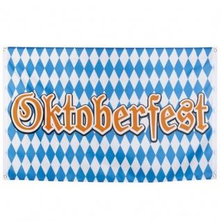 Oktoberfest Fahne Flagge Deko 150 x 90 cm Raute #4261