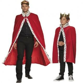 König Königinnen Königs Mantel Erwachsene und Kinder Umhang Cape Königsumhang