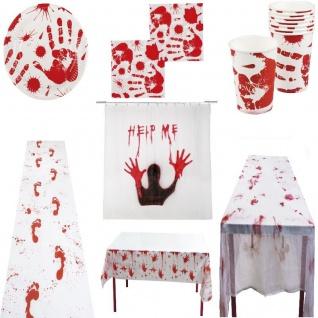 Halloween - BLUTIGE HAND - Motto Party Zombie Grusel Schocker - RIESEN AUSWAHL