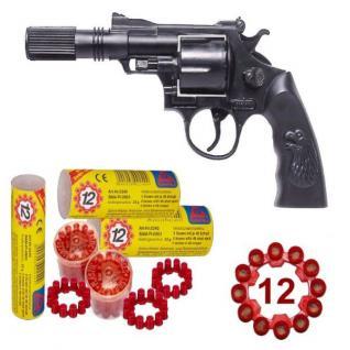 Agent BUDDY Pistole mit SCHALLDÄMPFER + 720 Schuss Kinder Spielzeug Revolver