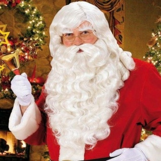 SANTA CLAUS Weihnachtsmann Perücke und Bart Nikolaus Weihnachten Perrücke #0785S