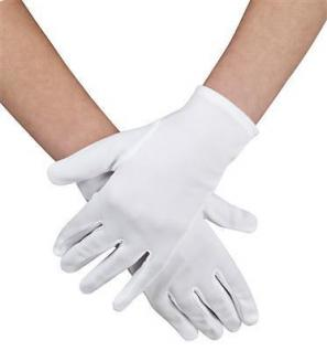 Handschuhe weiß Damen o. Kinder, Grusel, Halloween, Karneval